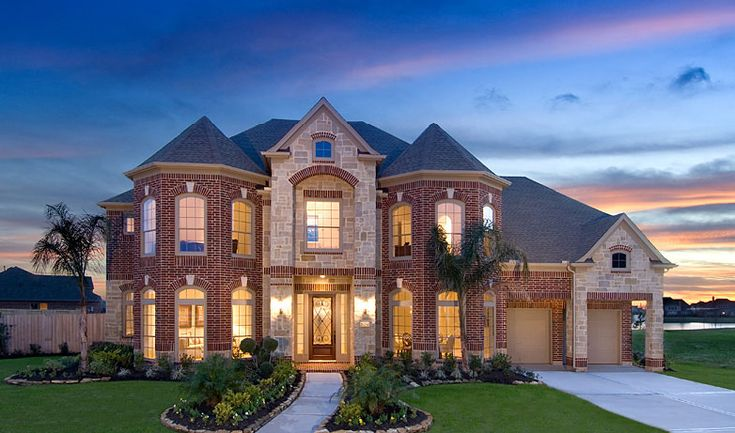 Big nice house dream home pinterest new home builders stone exterior and texas homes Dream house builder