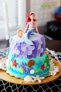 Sparklinbecks A Mermaid Party For A 3 Year Old Future