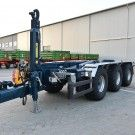 Hook lift trailer Pronar T386 is the largest and newest hook lift trailer with a technically permissible gross vehicle weight of 34t. The trailer can be used for many different tasks in areas of agriculture, construction, municipal or horticulture. It is a practical way to collect, transport, unload various types of containers between 5 to …