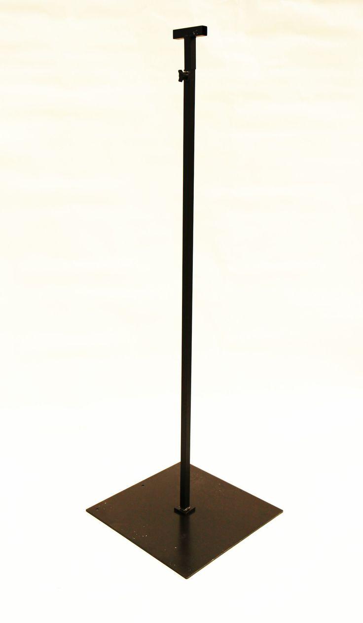 diy string light pole stand