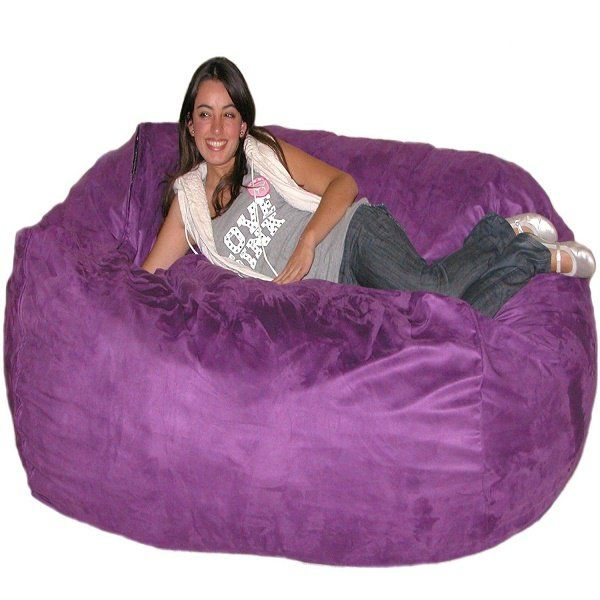 These popular funky purple bean bag chairs range in size, color shading and internal stuffing material. Choose a small size or one as large as seven feet!