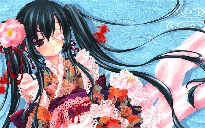 Download wallpapers Gintama, manga, Japanese anime, Kagura