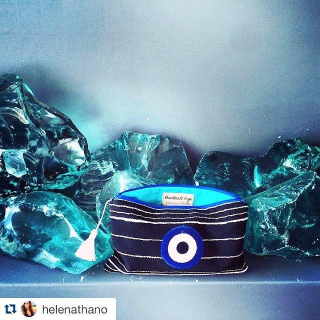 Thank you @helenathano ! #Repost @helenathano with @repostapp. ・・・ Love my new handmade evil eye mini clutch by Greek designer @xristinamalle #handmadebags_christinamalle #malle_bags