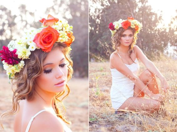 How to make a floral halo: DIY flower crown tutorial