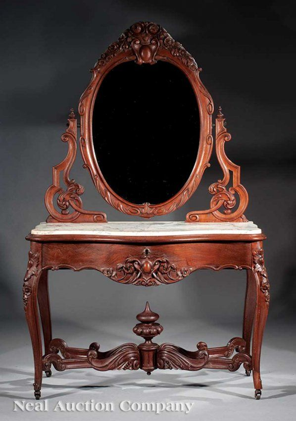 c1850 Rococo duchesse dressing table, attr P Mallard warerms, New Orleans,  LA, - 202 Best Style - Rococo C1860 Images On Pinterest Cabinets