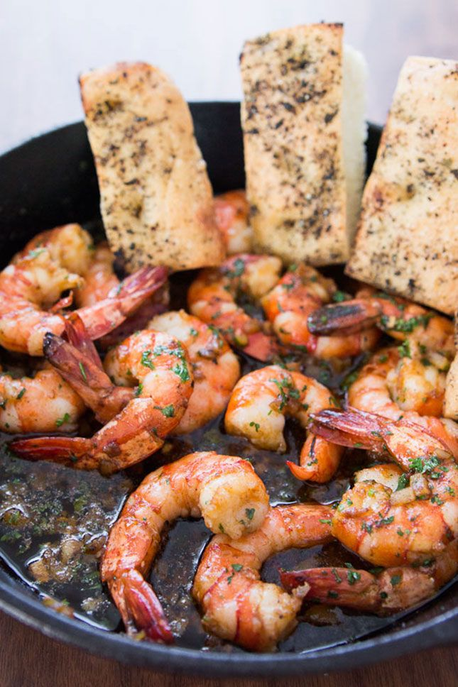 These garlic shrimp are a must-make.