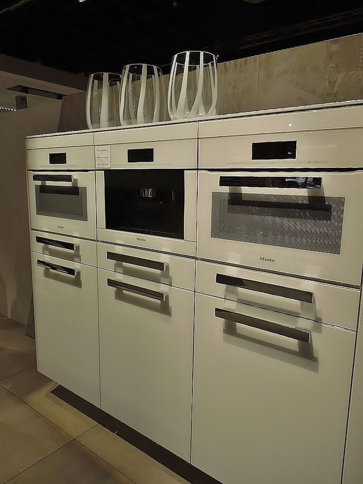 New Kitchen Design Trend: Appliance Wall. #DesignPinThurs @MieleUSA