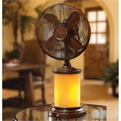 Marble Table Top Fan/Lamp   Decorative Table Fans And Portable Fans In Many  Unique Styles. These Oscillating Table Top Fans Are Perfect For Your Desk  Or ...