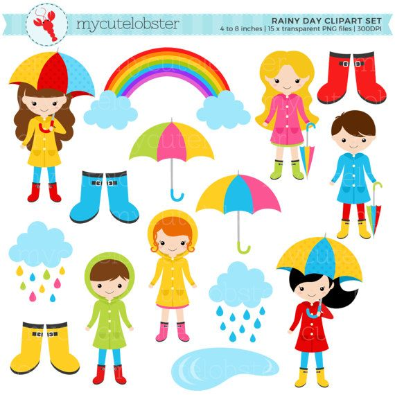 45+ Rainy Day Weather Clipart