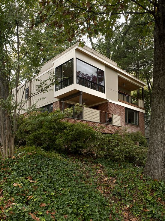 Stunning house remodel among trees stunning landscape view lush vegetations arlington ridge exterior