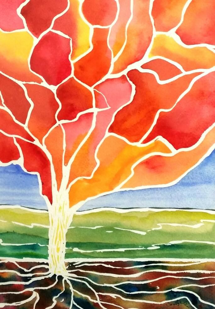 Painting - Watercolor on 140lb Arches - Enchanted Tree 10