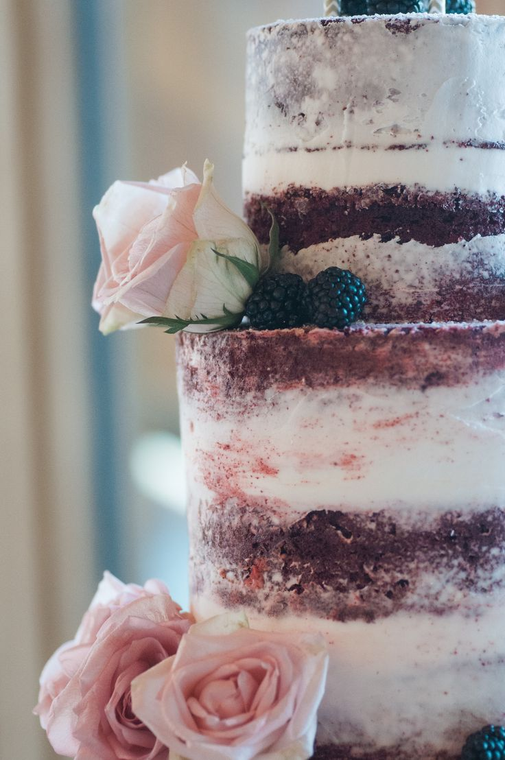 Red Velvet Naked Wedding Cake                                                                                                                                                                                 More