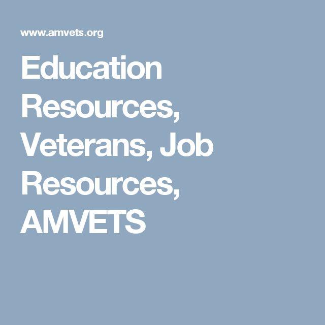 Education Resources, Veterans, Job Resources, AMVETS