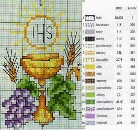 Distintos moldes para bordar bellas imágenes de la Sagrada Eucaristía