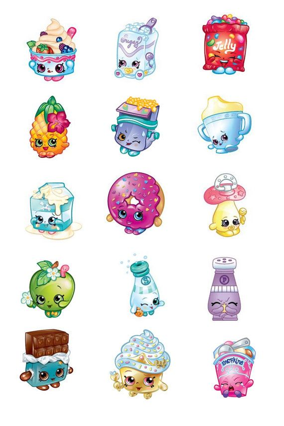 15 Images Shopkins 1 25mm Bottlecap Images 4x6 by OliverandMay