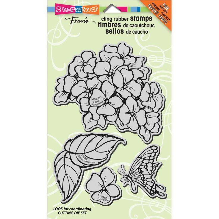 Штампы Hydrangea Garden, Stampendous | CuteCut
