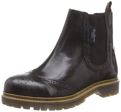 Pepe Jeans London ALAN CHELSEA, Damen Chelsea Boots, Schwarz (999BLACK), 40 EU - http://on-line-kaufen.de/pepe-jeans/40-eu-pepe-jeans-london-alan-damen-chelsea-boots