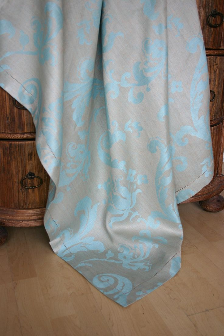#LinenWay #Linen #Tablecloth #LinenTablecloth #Hemstitched Border Tablecloth  #Bold Pattern #