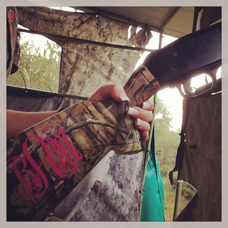 Hot Pink Monogram for your shotgun! Now I'm ready for dove hunting season and skeet shooting!