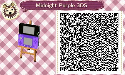 Animal Crossing: New Leaf - midnight purple 3DS QR-code