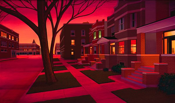 """""""2 Flats Dawn"""" by Kathleen Eaton (Met her at the Old Town art fair in Chicago) - all of her work is just breathtaking"""