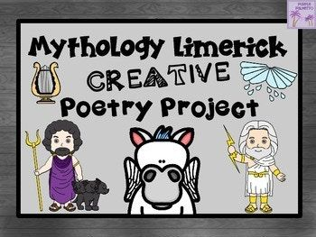 This is fantastic way to incorporate poetry into your mythology unit. Students love mythology and adding a silly limerick to the unit makes for lots of fun. This seven page product includes a teacher suggestion/direction page, student template pages, and three poster