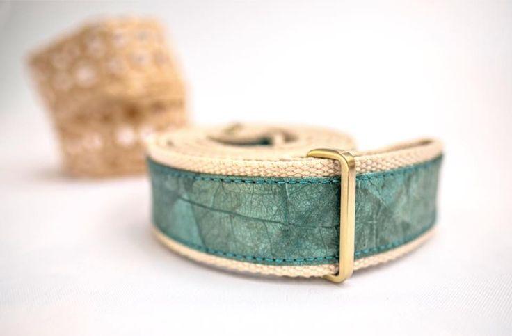NUVI RELEAF teak leaf yoga mat sling that also doubles as a yoga strap