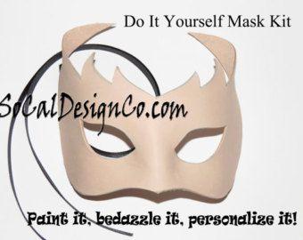 DIY lederen masker – masker maken-masker Project - leer projecten - leder Craft - diy projecten van de leder - leder-leder-masker