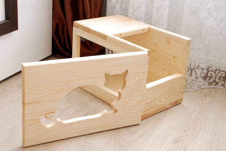 cat boxes wooden boxes cats