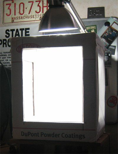 How to make an inexpensive lightbox out of cardboard for photography.