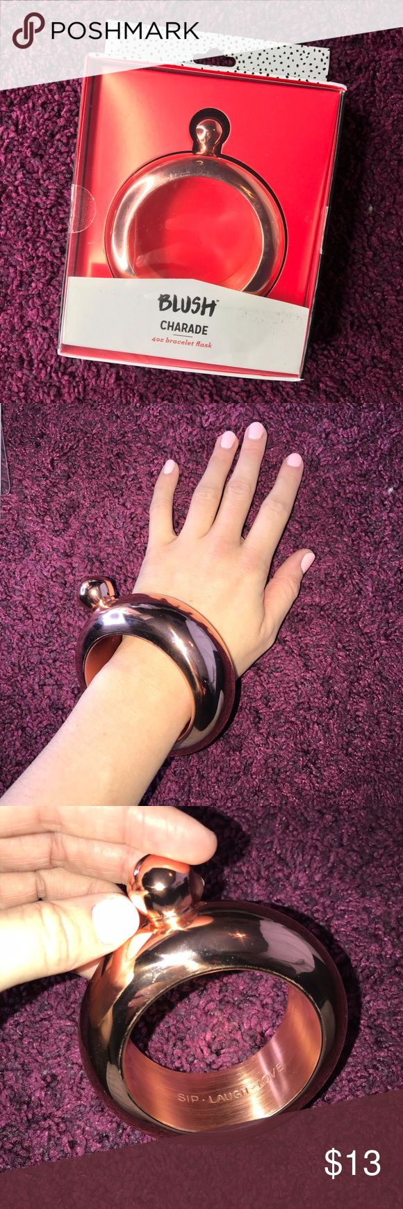 Braclet Flask NWT Super fun braclet Flask! Never used new in box! Blush Jewelry Bracelets