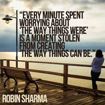 every minute spent about worrying robin sharma picture quote