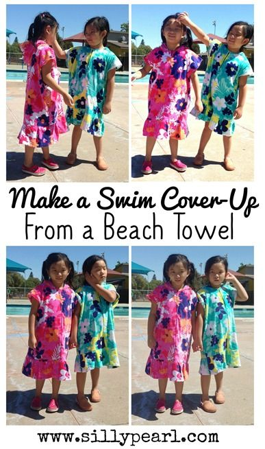 The Silly Pearl {Handmade}: Sew a Kid's Swim Cover-Up from a Beach Towel