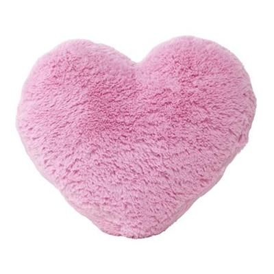 Pink furry heart shaped cushion - $5 KMart