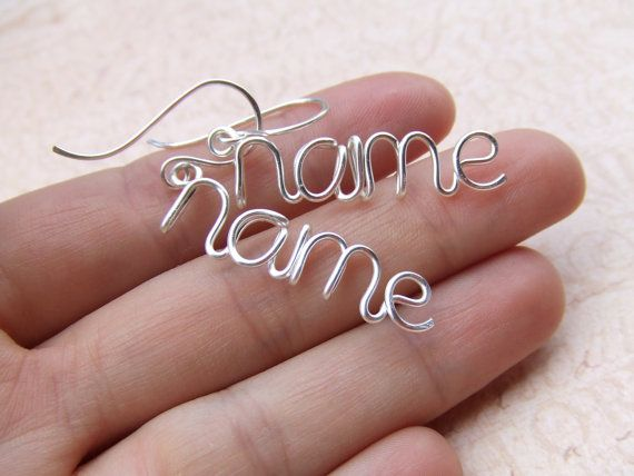 Personalized Earrings Any Word or Name Up to 8 Letters   by deannewatsonjewelry,