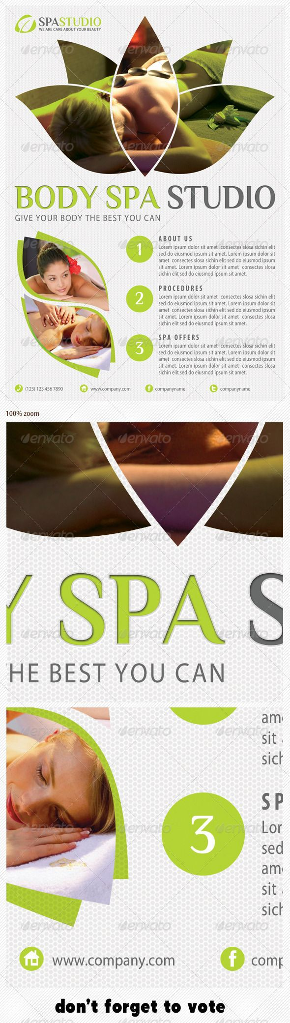 Best Spa Menu Images On   Spa Menu Spa Brochure And