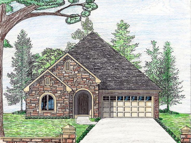 Cottage Country European House Plan 74712