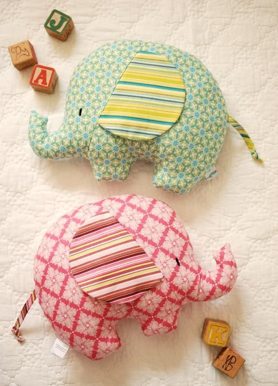 Sewing: Elephant Softies: Tilly & Tommy