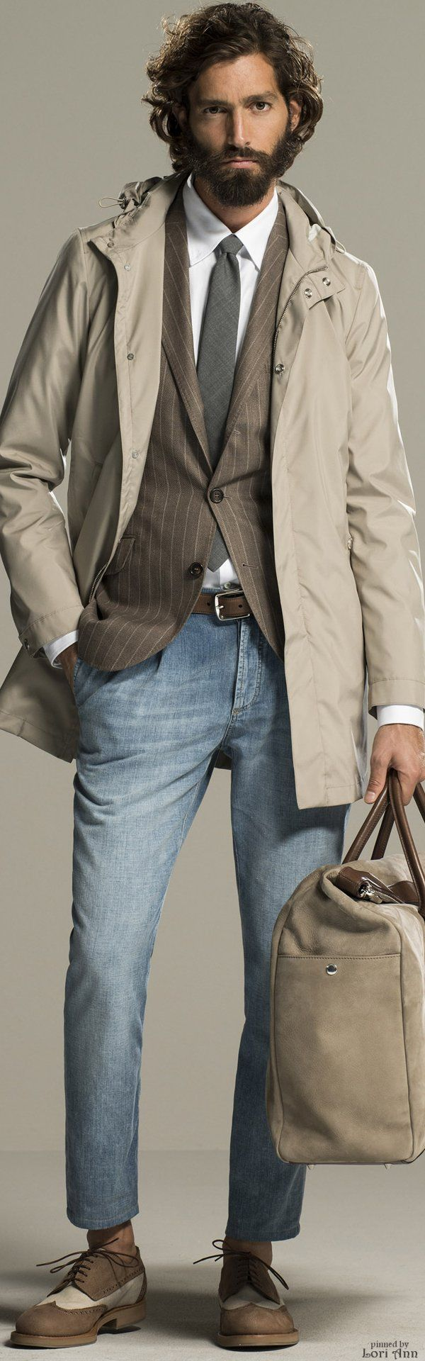 Brunello Cucinelli Spring 2016 | Men's Fashion | Menswear | Men's Casual Outfit for the Office | Moda Masculina | Shop at designerclothingfans.com