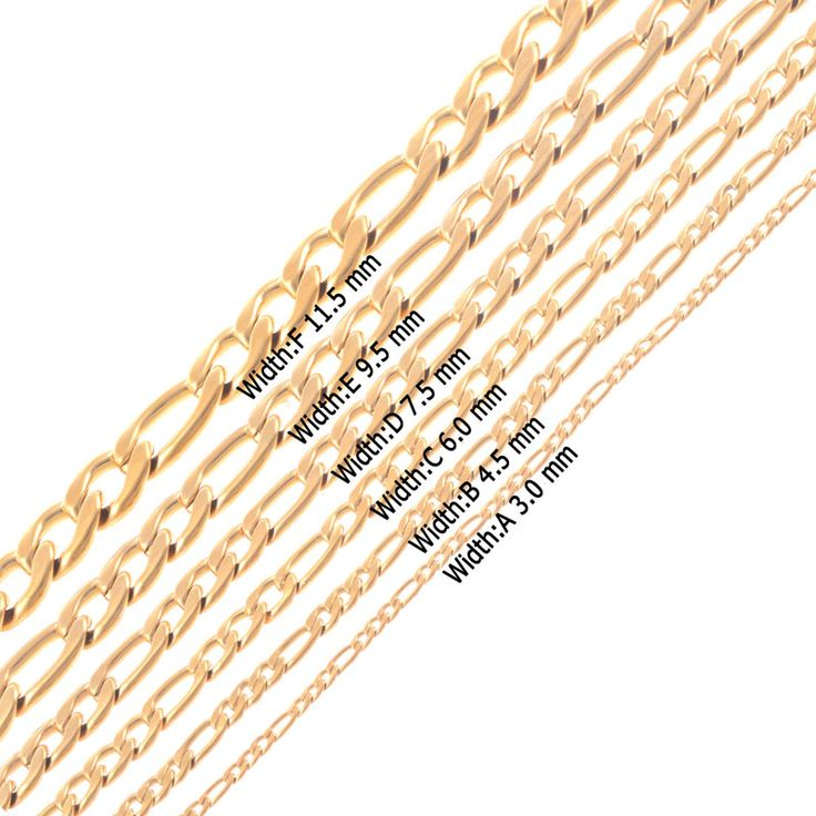 Gold 316L Stainless Steel 3:1 NK Necklaces Figaro link Chains Men Womwn jewelry fancy Christmas gifts