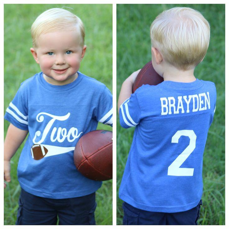 Football birthday shirt, Baseball Birthday Shirt, sports birthday shirt, youth football jersey, 2nd Birthday Shirt, boys birthday party
