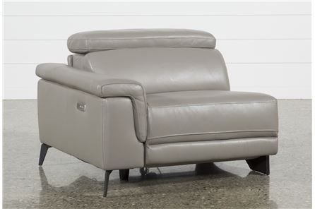 Thatcher Grey Left Facing Power Recliner - Signature
