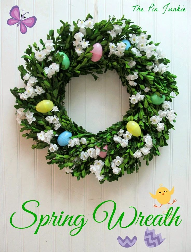 The Pin Junkie Spring Wreath 1295 best