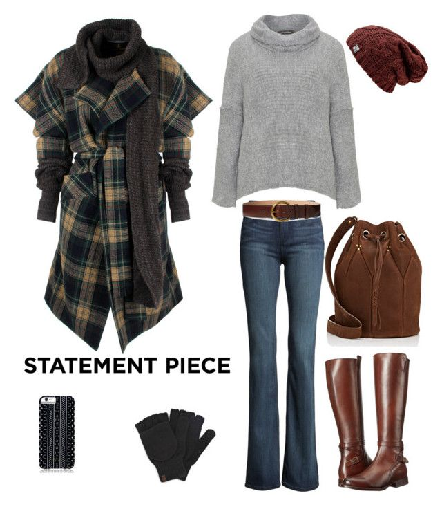 """""""Statement Coat"""" by sarah3927 ❤ liked on Polyvore featuring Vivienne Westwood Anglomania, Paige Denim, Amandine, Jérôme Dreyfuss, Keds, Frye, Savannah Hayes, Polo Ralph Lauren and statementcoats"""