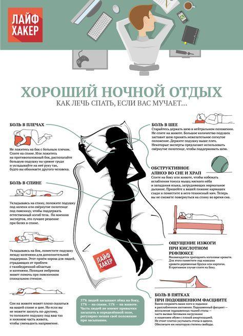 Как выбрать безболезненную позу для сна
