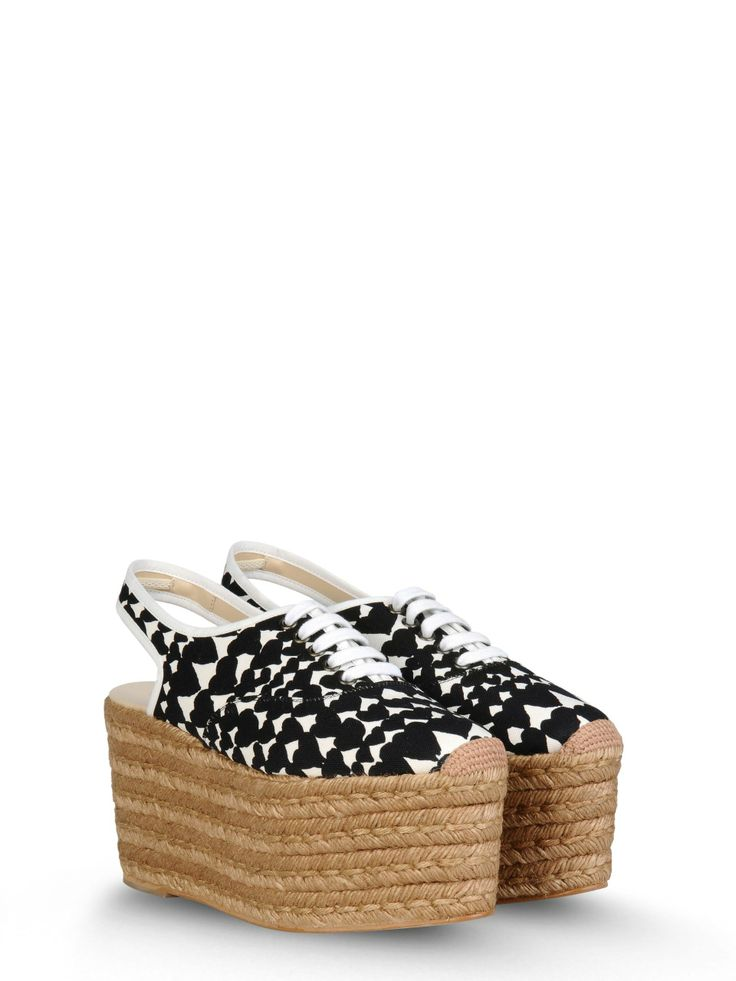 Stella McCartney - Scarpe Di Corda Lindsey - 341096W0VT1 - 100% Cotton 65mm heel with 45mm platform True to size