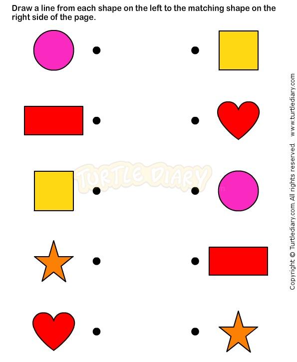shapes5 math worksheets preschool worksheets - Fun Worksheets For Preschoolers