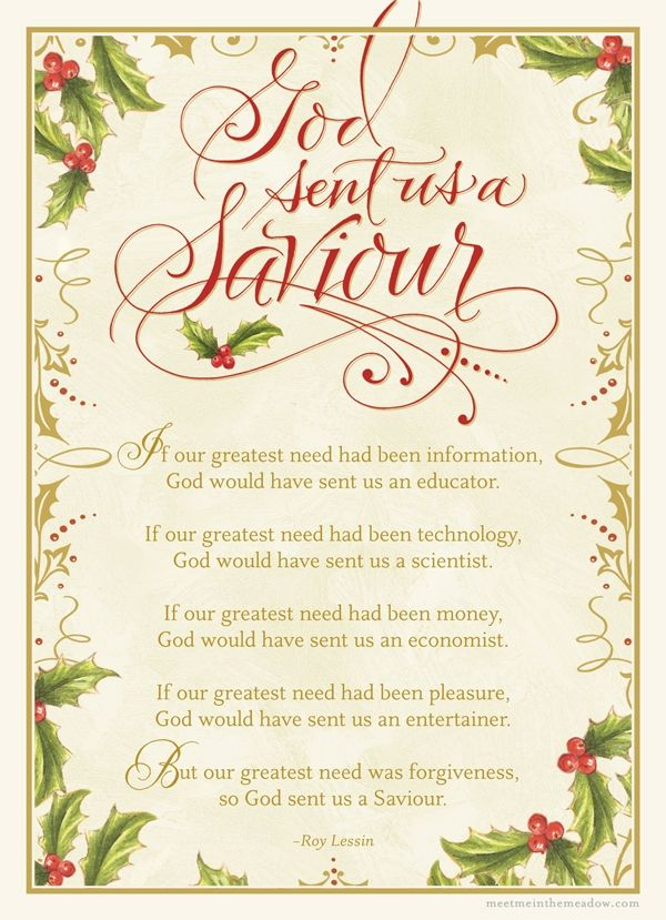 God Sent Us a Saviour - Roy Lessin