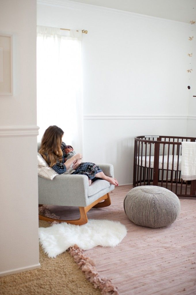 """Blogger says, """"The Stokke Sleepi Crib is sort of a dream crib of mine. Since I was a little girl i've dreamed of having a oval crib for my babies and this is so beautifully designed and functional. This crib grow as the baby does and can go up to 10 years old!"""" @SmallFryBlog"""