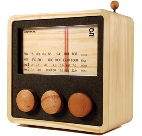 Magno Wooden Radio - designed by my very talented friend Singgih Kartono!